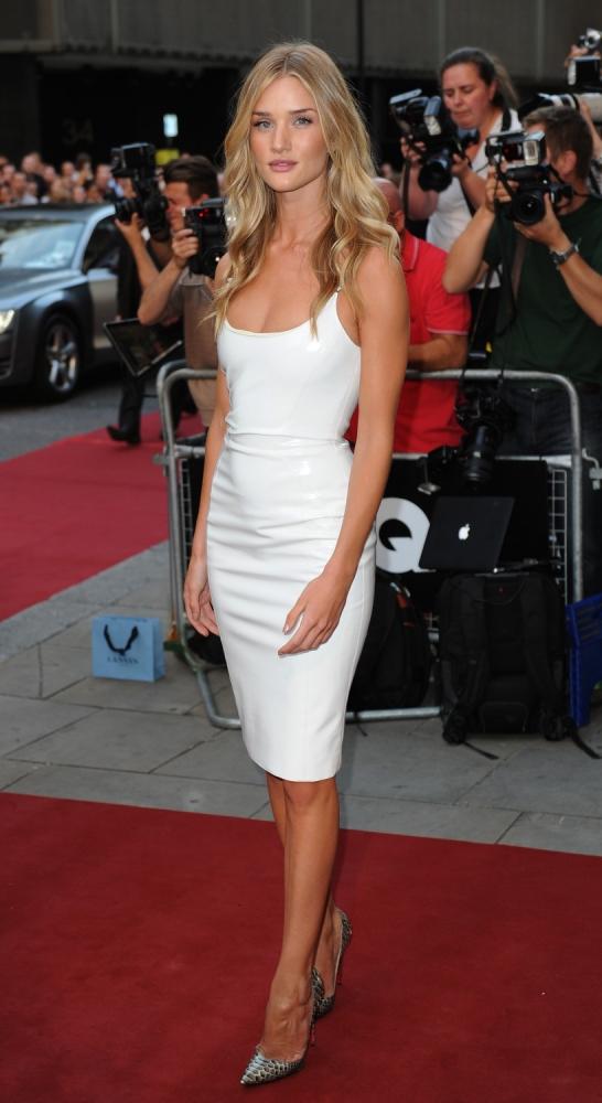 Rosie Huntington-Whiteley plays down Jason Statham split rumours at GQ Awards