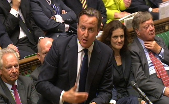 Prime Minister David Cameron speaks during Prime Minister's Questions in the House of Commons, London.PRESS ASSOCIATION Photo. Picture date: Wednesday September 4, 2013. See PA story POLITICS PMQs Cameron. Photo credit should read: PA/PA Wire