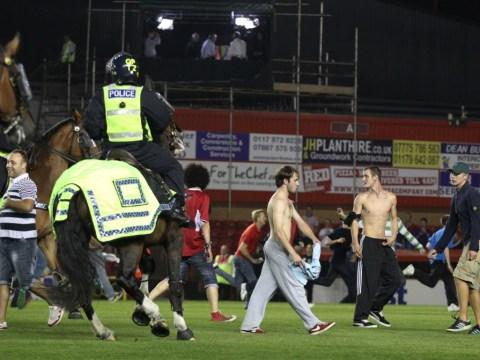 Dozens arrested after violence mars Bristol derby