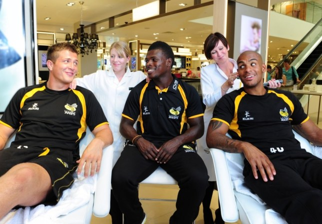 Spa day: Ed Jackson, Christian Wade and Tom Varndell get a pampering at John Lewis High Wycombe