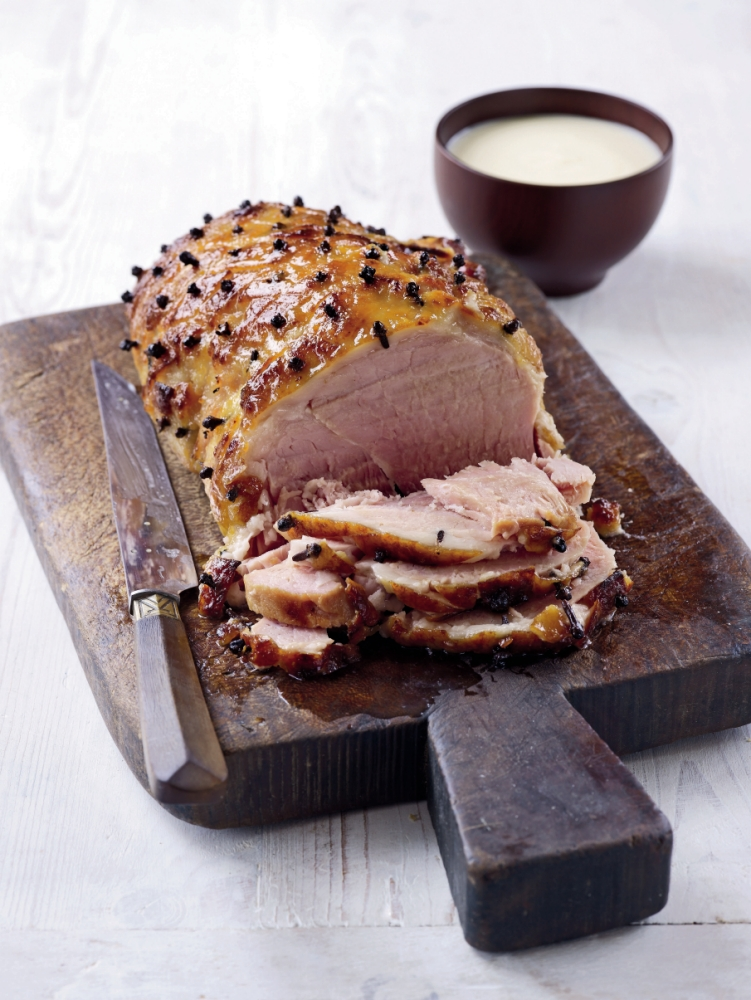 Glazed ham with cider and mustard sauce (Picture: supplied)