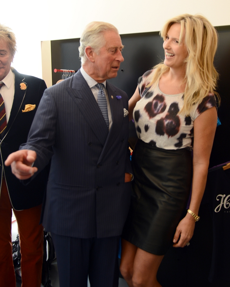 PRINCE CHARLES OPENS THE PRINCES TRUST STORE IN THE CITY TODAY..PICTURED WITH ROD STEWART AND PENNY LANCASTER..PICTURE JEREMY SELWYN..10/09/2013