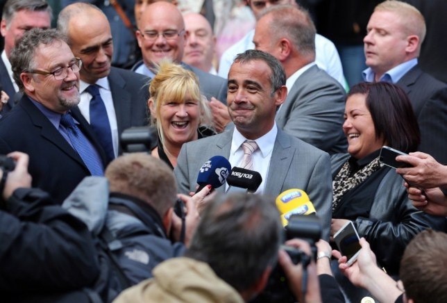 Coronation Street actor Michael Le Vell outside Manchester Crown Court after he was cleared of child sex offences. PRESS ASSOCIATION Photo. Picture date: Tuesday September 10, 2013. See PA story CoronationSt. Photo credit should read: Dave Thompson/PA Wire