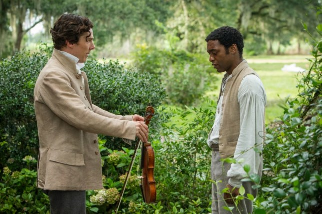 "This film publicity image released by Fox Searchlight shows Benedict Cumberbatch, left, and Chiwetel Ejiofor in a scene from ""12 Years A Slave."" The film, by director Steve McQueen, is being hailed a masterpiece and a certain Oscar heavyweight. (Picture: AP)"