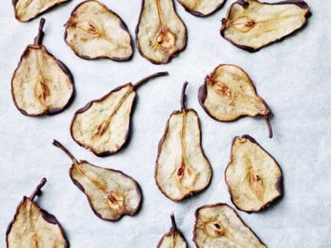 How to cook Annie Rigg's chocolate-dipped pear wafers
