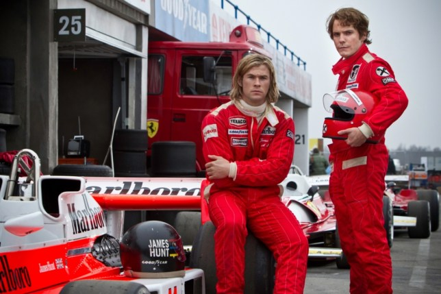 Chris Hemsworth and Daniel Bruhl in Rush (Picture: Capital Pictures)