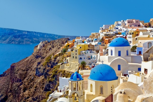 The picturesque buildings overlooking the caldera in Santorini (Picture: Alamy)