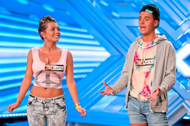 EMBARGOED TO 0001 SATURDAY SEPTEMBER 14  ITV undated handout photo of Lydia and Ryan during the auditions for the ITV1 talent show, The X Factor.  PRESS ASSOCIATION Photo. Issue date: Saturday September 14, 2013. See PA story SHOWBIZ XFactor. Photo credit should read: Tom Dymond/ITV/PA Wire NOTE TO EDITORS: This handout photo may only be used in for editorial reporting purposes for the contemporaneous illustration of events, things or the people in the image or facts mentioned in the caption. Reuse of the picture may require further permission from the copyright holder.
