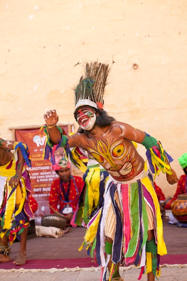 A dancer at Rajasthan's International Folk Festival (Picture: Kavi Bhansali)
