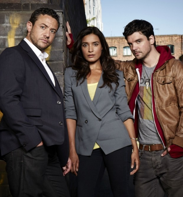 Warren Brown, Shelley Conn and Andrew-Lee Potts in the cliche-ridden By Any Means (Picture: Red Planet)