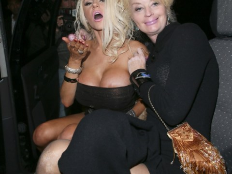 Flirty Courtney Stodden suffers nip slip on messy night out with CBB housemate Lauren Harries