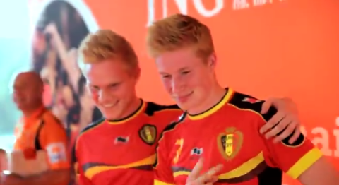 Excellent Belgian lookalikes get to meet their footballing heroes