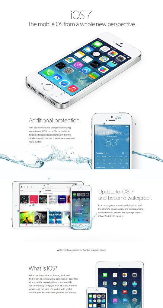 separation shoes 503c1 e7376 iOS 7 makes your phone waterproof: Twitter users fall for iPhone 5S ...