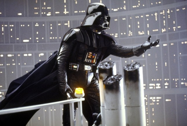 """Film """"Star Wars: Episode V, The Empire Strikes Back"""" (1980).. Darth Vader is shown in a scene from Lucasfilm's """"Star Wars: Episode V, The Empire Strikes Back,"""" in this undated promotional photo. Lucasfilm Ltd. and 20th Century Fox announced Tuesday, Feb. 10, 2004, that the original three """"Star Wars"""" films will be released on DVD Sept. 21, 2004 in North America. (AP Photo/Lucasfilm, Ltd. & TM)...A...ENT...USA"""
