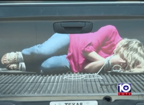 Texas company's tailgate sticker of apparent kidnap victim denounced as demeaning to victims of abuse