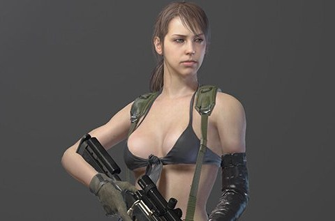 Metal Gear Solid's character Quiet: The games community can still be something of a little boys' club