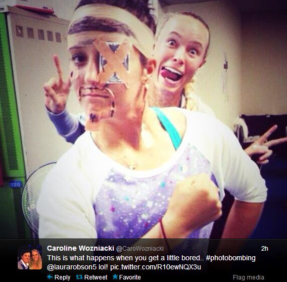 Caroline Wozniacki and Laura Robson get up to high jinx on WTA tour in Japan
