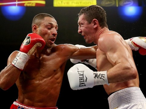 Kell Brook sets up world title shot with victory over Vyacheslav Senchenko as Anthony Joshua makes it two from two