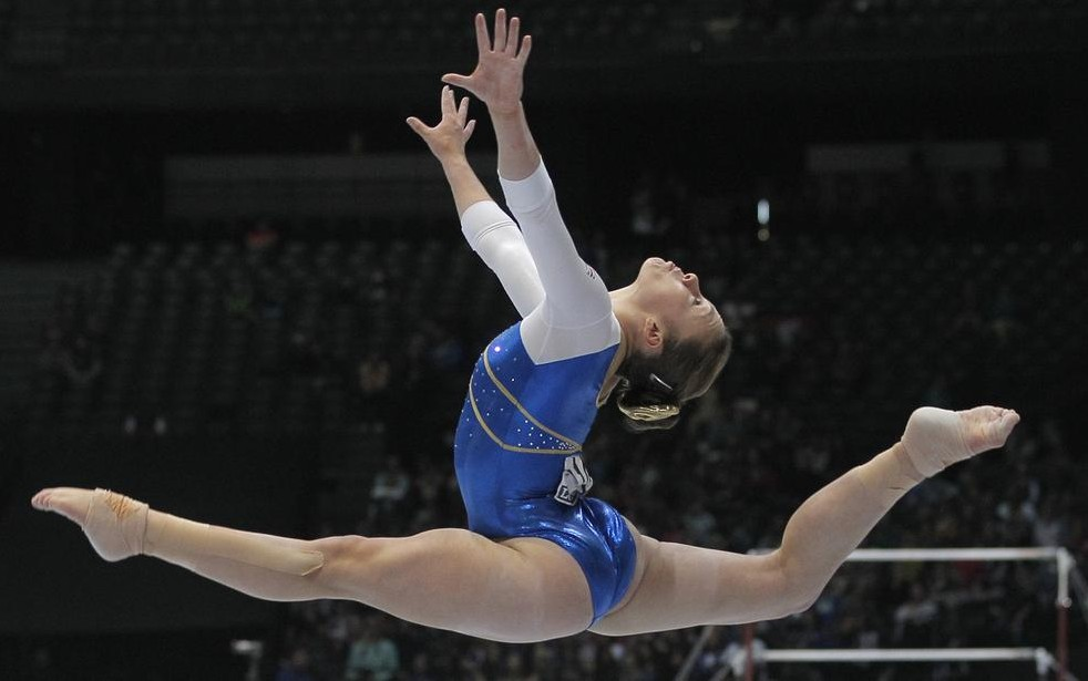 Ruby Harrold has earned her place in the uneven bars final (Picture: AP)