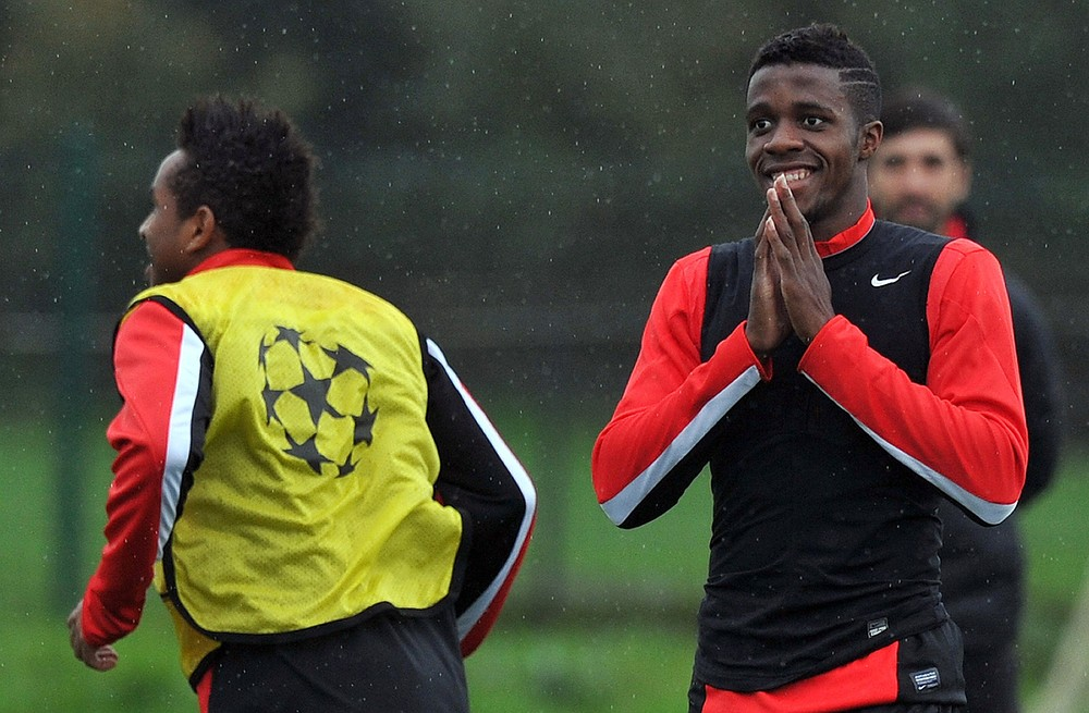 Wilfried Zaha's frustrating spell at Manchester United is coming to an end (Picture: AFP/Getty Images)