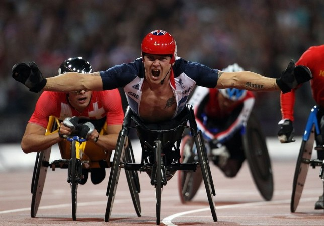 David Weir wins the first of his gold medals last summer over 800m (Picture: PA)