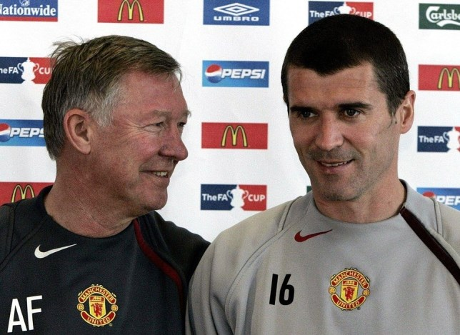 File photo dated 18/05/2005 of Manchester United manager Sir Alex Ferguson and captain Roy Keane. Issue date: Thursday May 9, 2013. Sir Alex Ferguson has made some incredible signings during his reign at Old Trafford. See PA story SOCCER Ferguson signings. PA Wire/Press Association Images