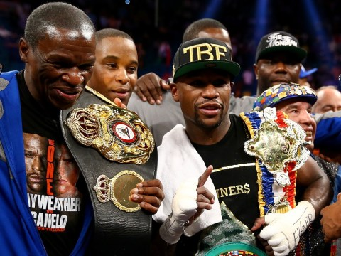 LeBron James and Dwyane Wade in awe as Floyd Mayweather Jr gives Miami Heat a motivational talk