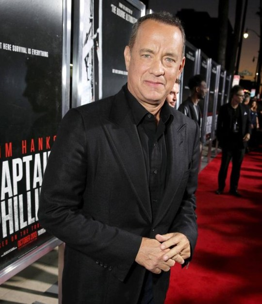 Tom Hanks arrives at Columbia Pictures screening of Captain Phillips last week in LA. Pic: Invision for Sony Pictures