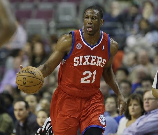 Thaddeus Young will be key to the Sixers' hopes in Manchester (Picture: AP)
