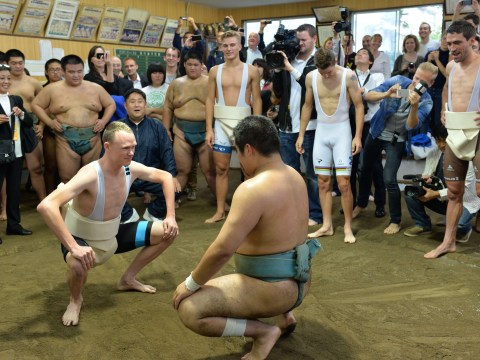 Gallery: Tour de France winner Christopher Froome does Sumo