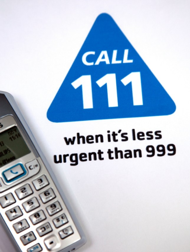 D5NCAF New NHS 111 number for non-emergency medical calls, London. Image shot 2013. Exact date unknown.