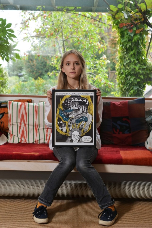 Graphic novelist Isabel Greenberg photographed by Metro at her north London home (Picture: Daniel Lynch)