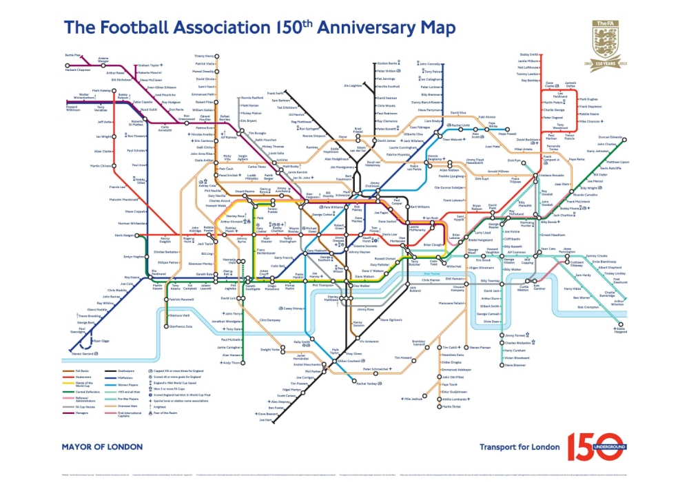 Delays on the full-back line? FA launches football-inspired Tube map