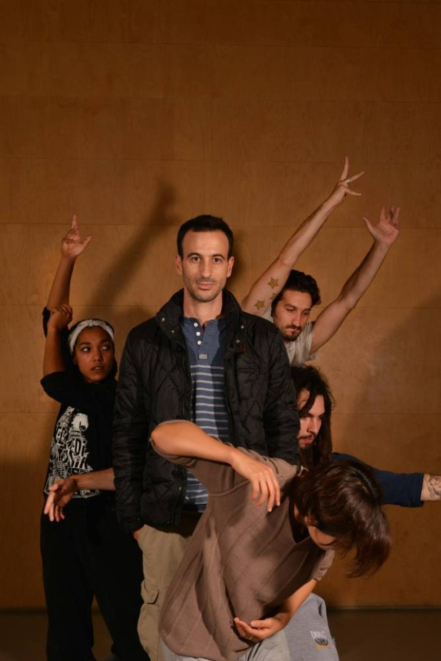 Company man: Hofesh Shechter with dancers from his new dance show, Sun (Picture: Daniel Lynch)