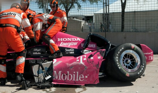 Scottish driver Dario Franchitti fractures spine in horror IndyCar smash