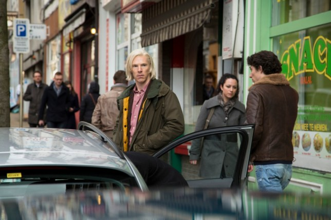 Benedict Cumberbatch as WikiLeaks founder Julian Assange in a scene from The Fifth Estate. (Picture: Dreamworks Pictures)