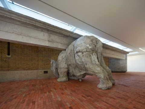Adrián Villar Rojas's exhibition Today We Reboot The Planet literally has an elephant in the room
