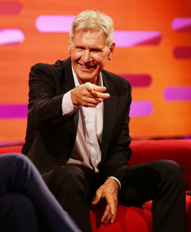 Harrison Ford during filming of the Graham Norton Show at The London Studios, south London, to be aired on BBC One on Friday evening. PRESS ASSOCIATION Photo. Picture date: Tuesday October 8, 2013. Photo credit should read: Yui Mok/PA Wire