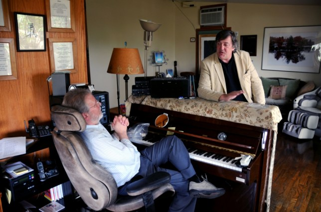 Stephen Fry talks to Bob Corff in Out There (Picture: Maverick)