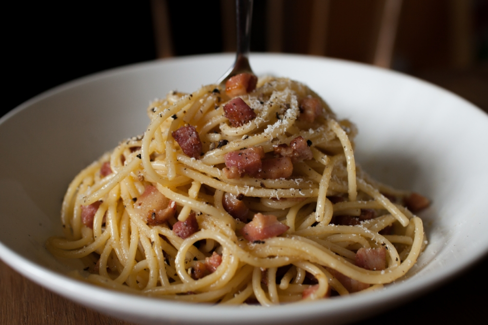 Whatever you do, don't add cream in your carbonara (Picture: Oli Jones)