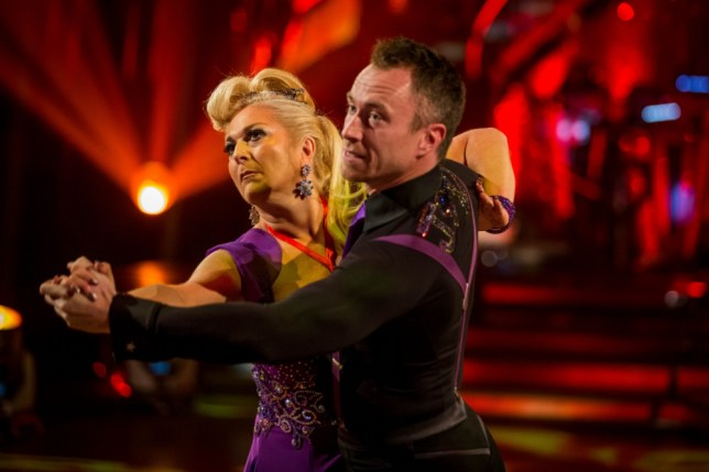 Vanessa Feltz and James Jordan performing during rehearsals for the BBC programme Strictly Come Dancing. (Picture: PA)