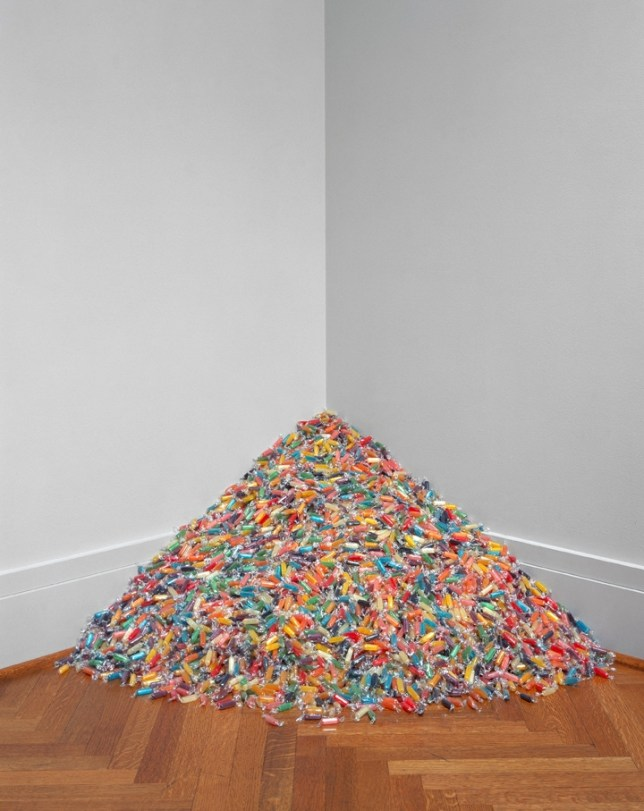 Cellophane-wrapped sweets by Felix Gonzalez-Torres in Candy at BlainSouthern (Picture: The Felix Gonzalez-Torres Foundation, Courtesy of Andrea Rosen Gallery, New York)
