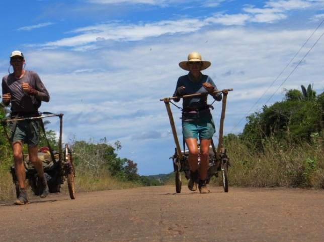 By trolley, we've done it: Couple lug 100kg across South America – stopping only for roadkill stew