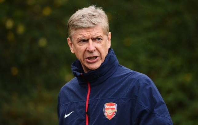 ST ALBANS, ENGLAND - OCTOBER 21:  Arsenal manager Arsene Wenger looks on during an Arsenal training session at London Colney on October 21, 2013 in St Albans, England.  (Photo by Mike Hewitt/Getty Images)