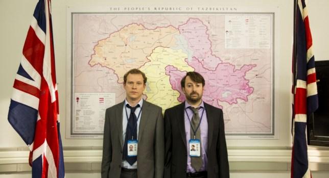 Ambassadors Neil, played by Robert Webb and Davis, played by David Mitchell, In Ambassadors (Picture: Big Talk)