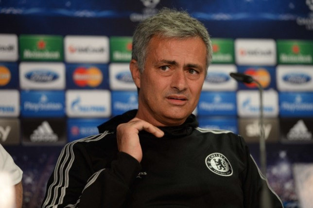 Chelsea¥s Portuguese head coach Jose Mourinho addresses a press conference in Duesseldorf, western Germany on October 21, 2013, on the eve of the UEFA Champions League football match against Schalke 04. AFP PHOTO / PATRIK STOLLARZPATRIK STOLLARZ/AFP/Getty Images