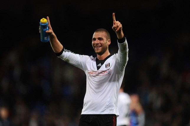 Fulham's Pajtim Kasami celebrates after the final whistle during the Barclays Premier League match at Selhurst Park, London. PRESS ASSOCIATION Photo. Picture date: Monday October 21, 2013. See PA story SOCCER Palace. Photo credit should read: Adam Davy/PA Wire. RESTRICTIONS: Editorial use only. Maximum 45 images during a match. No video emulation or promotion as 'live'. No use in games, competitions, merchandise, betting or single club/player services. No use with unofficial audio, video, data, fixtures or club/league logos.