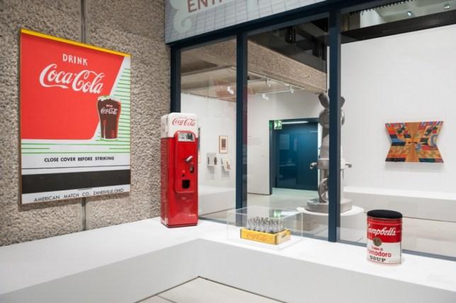 A 1950s vending machine is a star of the Pop Art Design show (Picture: Bill Cooper)