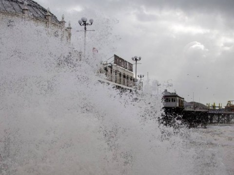 UK storm: Boy of 14 'swept away' in Newhaven