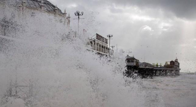 UK storm: Boy of 14 'swept away' in Newhaven